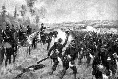 Битва при еёниггрэц - принц Фридрих Карл Николаус фон Пройссен командует прусскими войсками