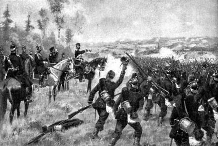 Schlacht bei Königgrätz - Prinz Friedrich Karl Nikolaus von Preußen befehligt preußische Truppen