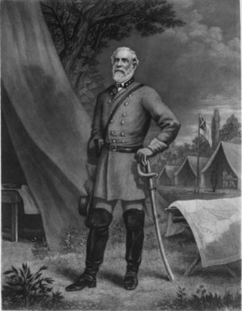 General Robert Edward Lee, Oberbefehlshaber der Nord-Virginia-Armee