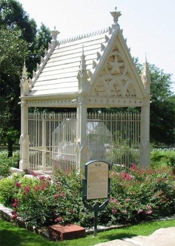 约翰斯顿的坟墓在奥斯汀的德克萨斯州公墓