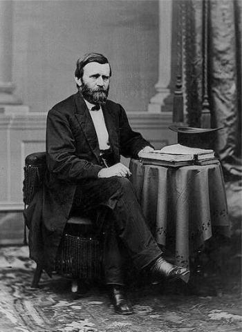 Präsident Ulysses S. Grant im Weißen Haus, 1869