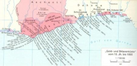 Gold und Sklavenküste 15. bis 19. Jahrhundert