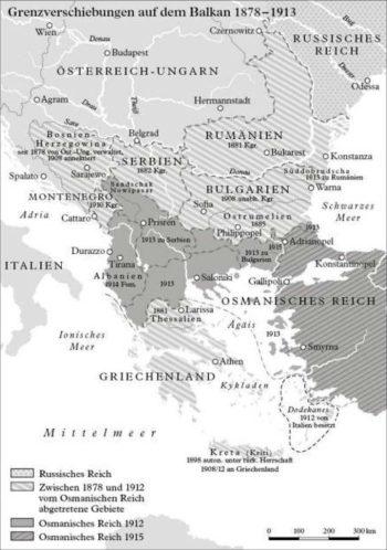 Transfert des frontières dans les Balkans 1878 - 1913