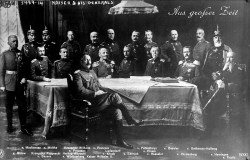 L'imperatore Guglielmo II nella cerchia dei generali tedeschi