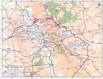 1916年2月21日凡尔登战役地图