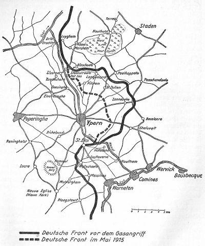 2. Ypern Schlacht mit Beteiligung der 46. Reserve Division