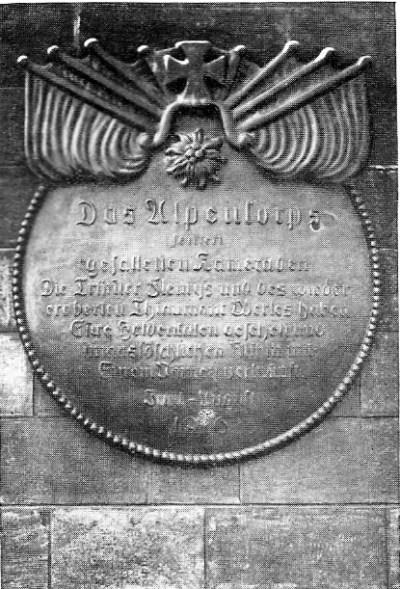 Gedenktafel des Alpen-Korps in Azannes-et-Soumazannes