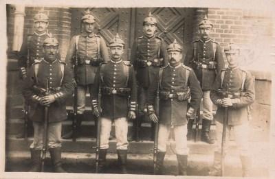Soldaten der 1. Reserve Division August 1914