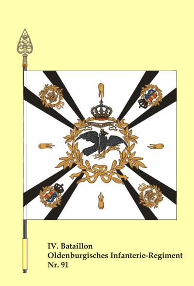 Fahne des IV. Bataillons des Oldenburgischen Infanterieregimentes Nr. 91