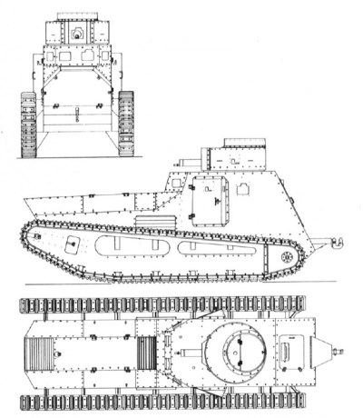 Véhicule léger de combat LK II Version mitrailleuse Croquis