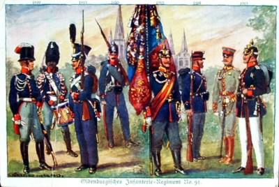 Uniformen des Oldenburgischen Infanterieregimentes Nr. 91