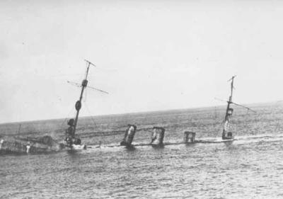 L'affondamento SMS Frankfurt