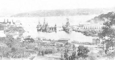 СМС Вроцлав и СМС Гоебен в Босфоре в 1915