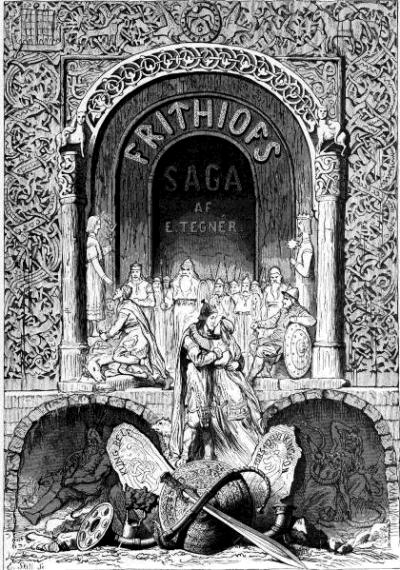 Disegno della Saga dei Fredios di Esaias Tegnér (1876)