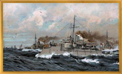 SMS Heimdall e SMS Siegfried nell'estuario dell'Elba