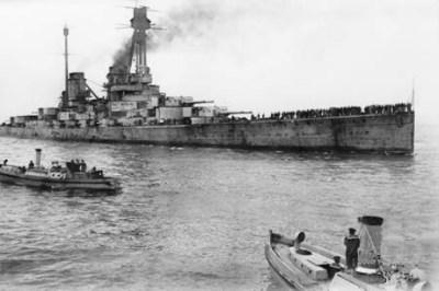 SMS Hindenburg in Scapa Flow