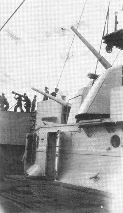 8,8 centimetri di pistola antiaerea sul SMS König Albert