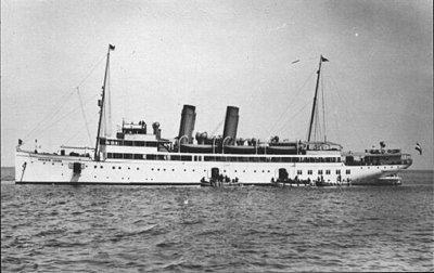 Le navire à vapeur de la mine Königin Luise