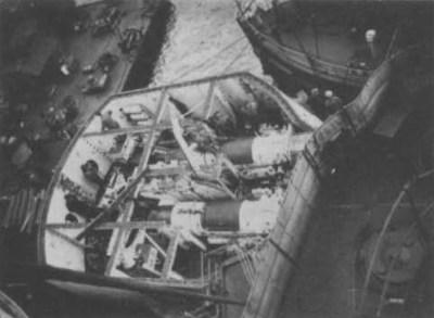 Бакборт орудие СМС Нассау во время строительной фазы