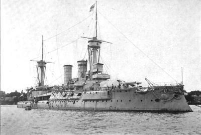 Bateau de ligne le SMS Kurfürst Friedrich Wilhelm