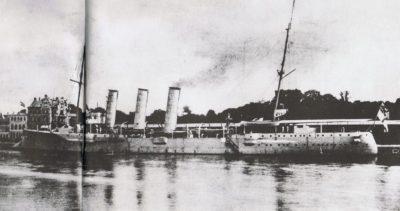 SMS Lübeck in visita a Lübeck 1905