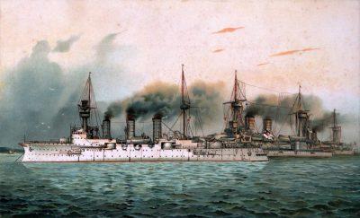 Squadrone di formazione SMS Victoria Louise, SMS Kurfürst Friedrich Wilhelm e SMS Weißenburg
