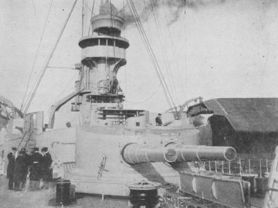 Aft 21cm double tower of the SMS Scharnhorst