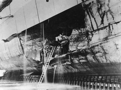 Dommages causés par les torpilles après la bataille du Skagerrak