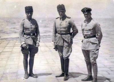 Hauptmann Buddecke, Marschall Liman von Sanders e il Hauptmann Boelcke
