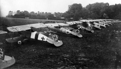 Albatros D.V planes of the fighter squadron 5