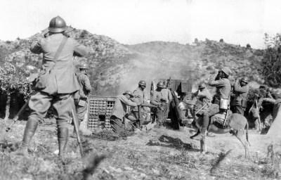 第一次世界大战中炮兵的塞尔维亚信使