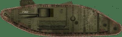 Char britannique Mark II no. 790
