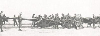 QF 4,7 пошлину орудие в Юго-Западной Африке