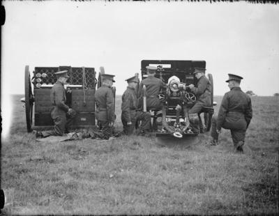 Ordnance QF 18 livres 1940 en Grande-Bretagne