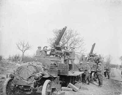 QF 13 Пфюндер 9 квт Министерство иностранных дел орудие в употреблении при Камбрай 13 марта 1918