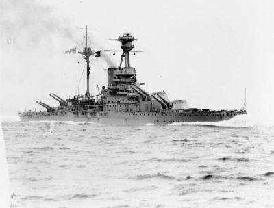 Le HMS Royal Oak en octobre 1939 à la recherche du Gneisenau