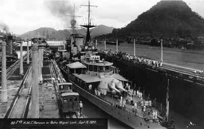 HMS Renown il 13 settembre 1920 a Pedro Miguel Lock, Canale di Panama