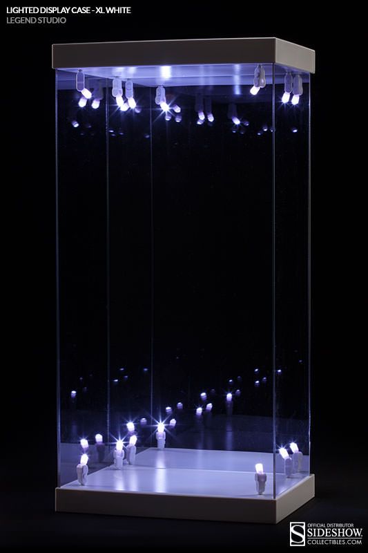 lighted display case x large white