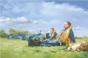 Spitfires At Rest - by Mark Bromley