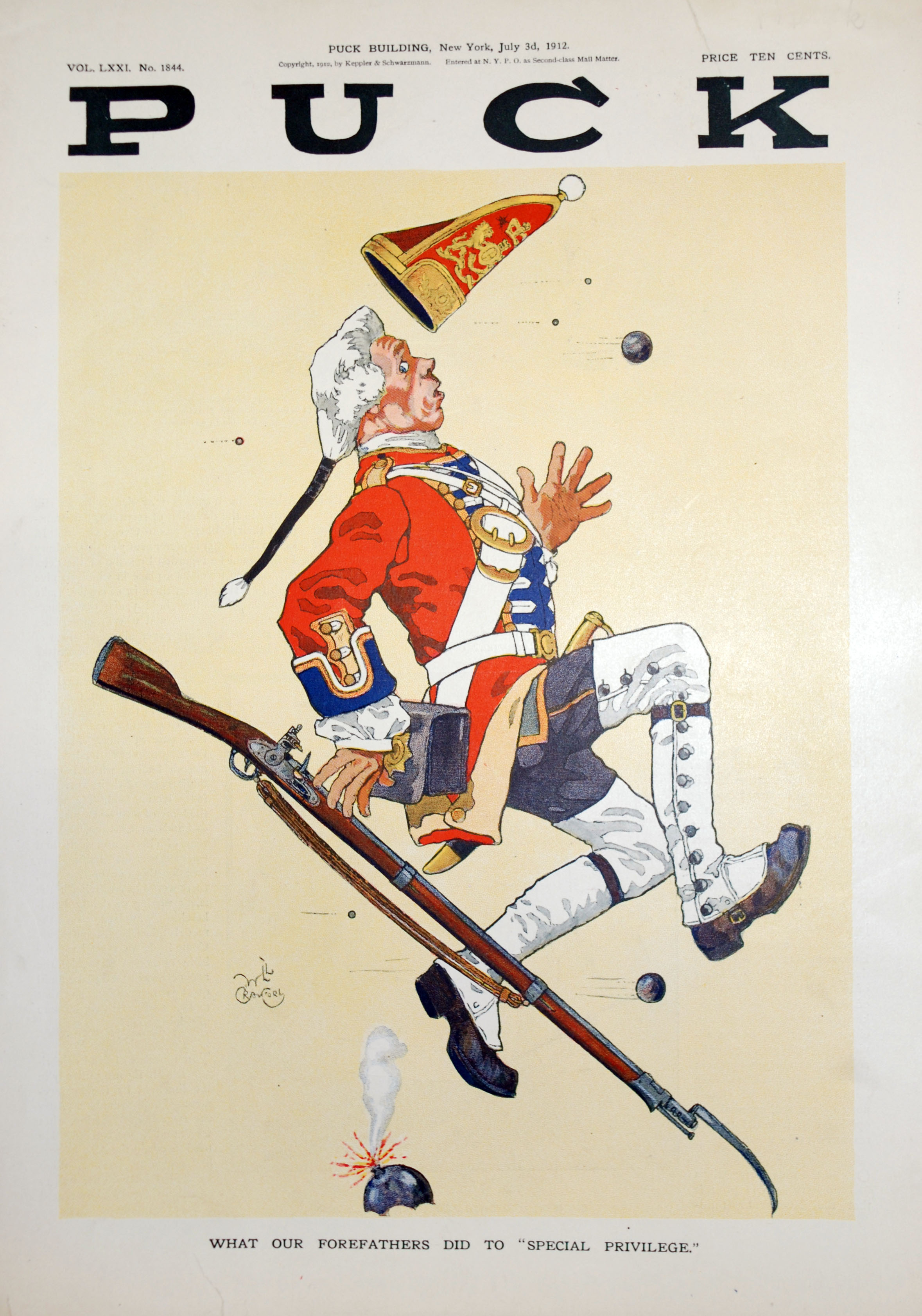 What Our Forefathers Did To Special Privilege American Political Cartoon Showing A British Redcoat From The Military History Matters