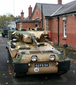 7 Alvis Scorpion,  tracked reconnaissance vehicle c1972