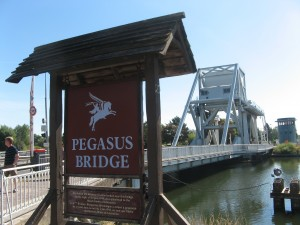 2012-08-11 Pegasus Bridge from the Cafe Gondree