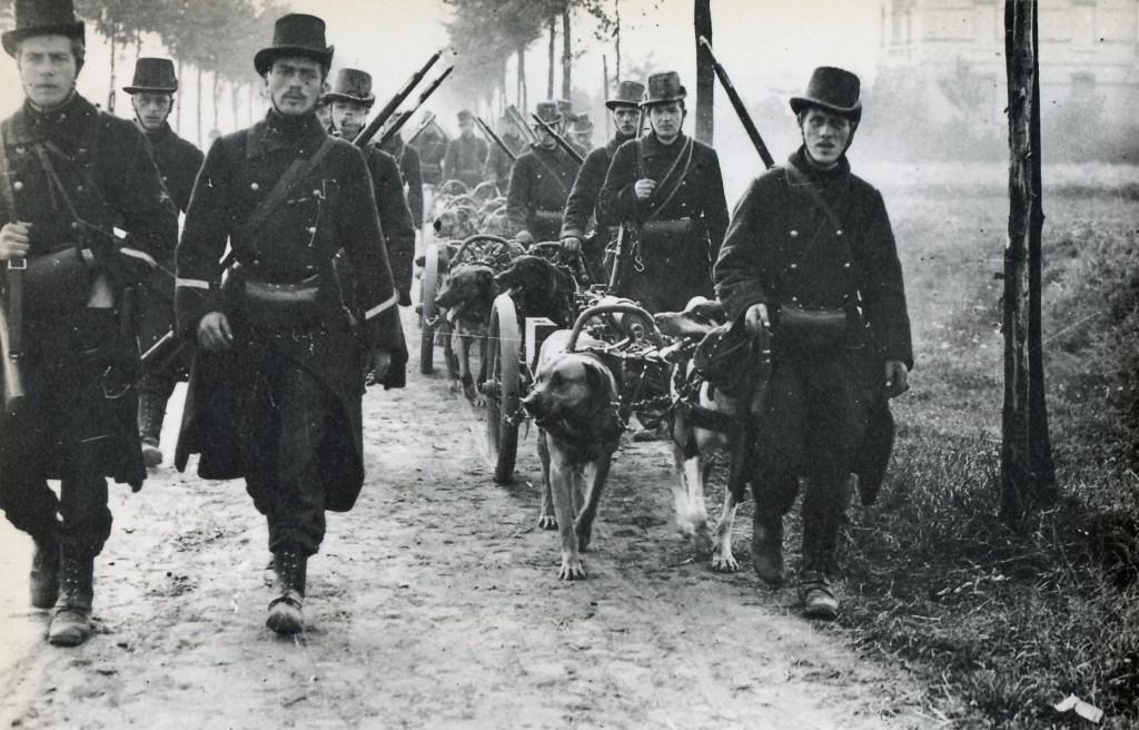 Belgian machine-gun troop