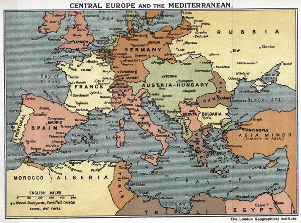 FWW_MapCentralEurope_Med_1914