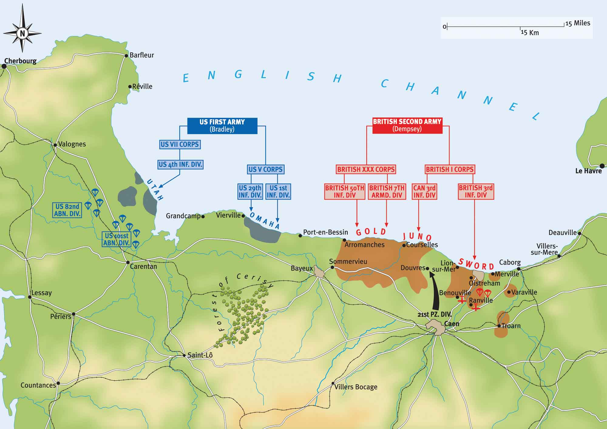 D Day Plan of Operations on 6 June