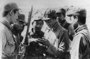 Chinese soldiers of the Red Army.