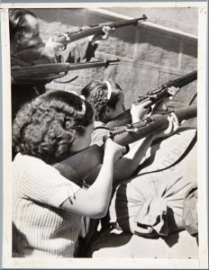 The Spanish Civil War was a people's war against fascism. Here, women fighters defend Alcazar in 1936.