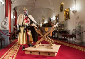 Replica of the Throne of King Robert the Bruce made in partnership between Historic Scotland and Strathleven Artisians