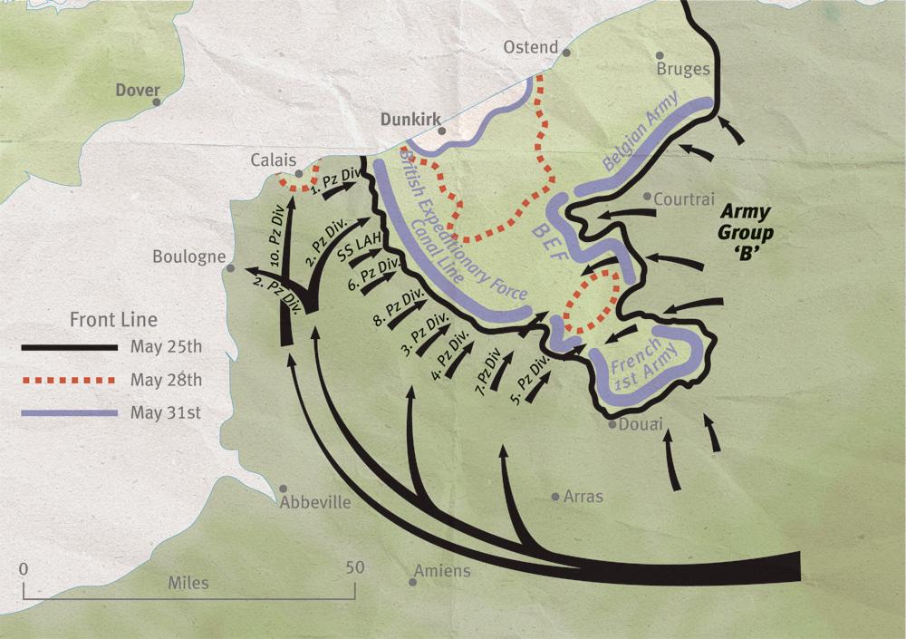 Dunkirk Pocket map
