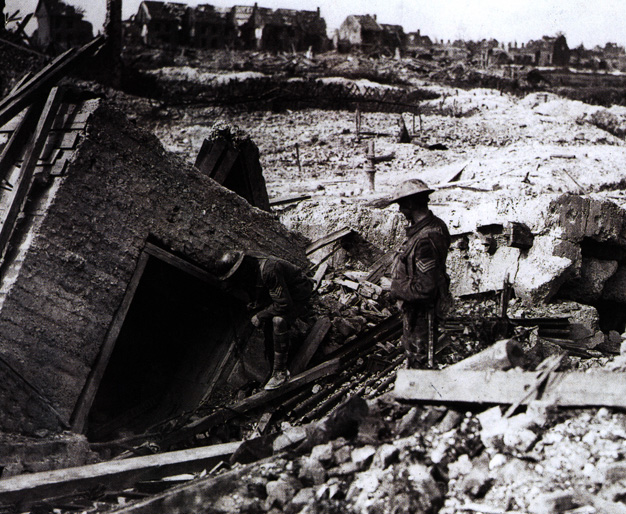 As well as being laced with trenches, the German lines were studded with concrete bunkers.